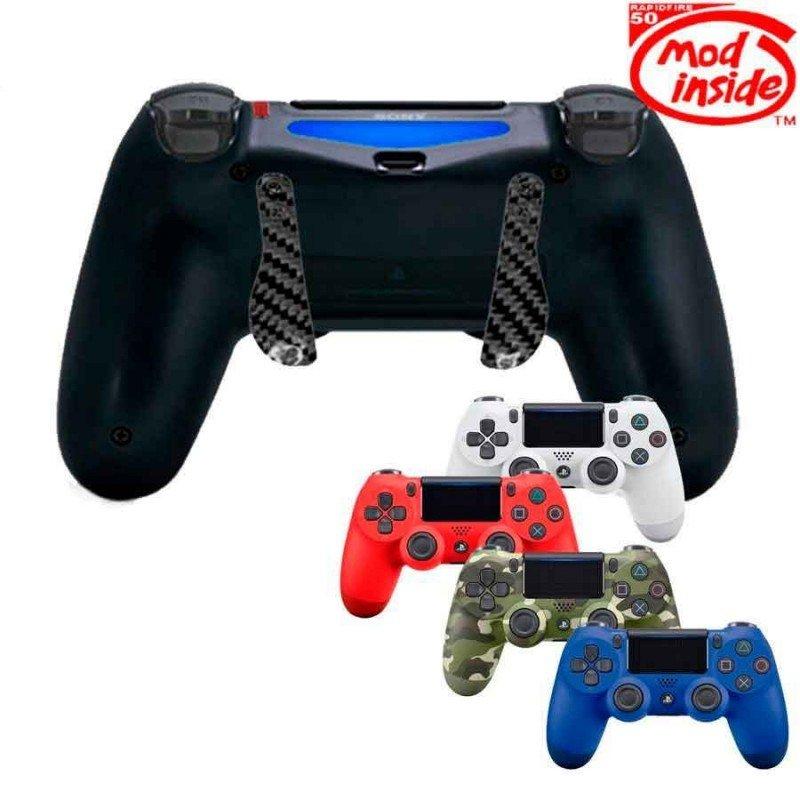 Mando PS4 Competitivo Rapid fire + Palancas scuf CARBONO