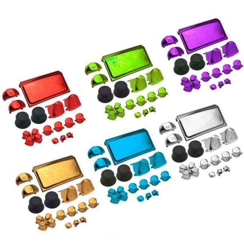 Botones mando DualShock 4 PS4 - CROMADOS (V4)