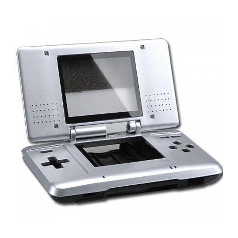 Carcasa completa Nintendo DS + Extras - PLATA