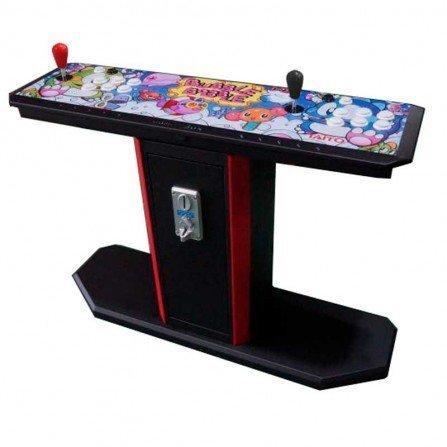 Maquina arcade barata bubble bobble pedestal con monedero