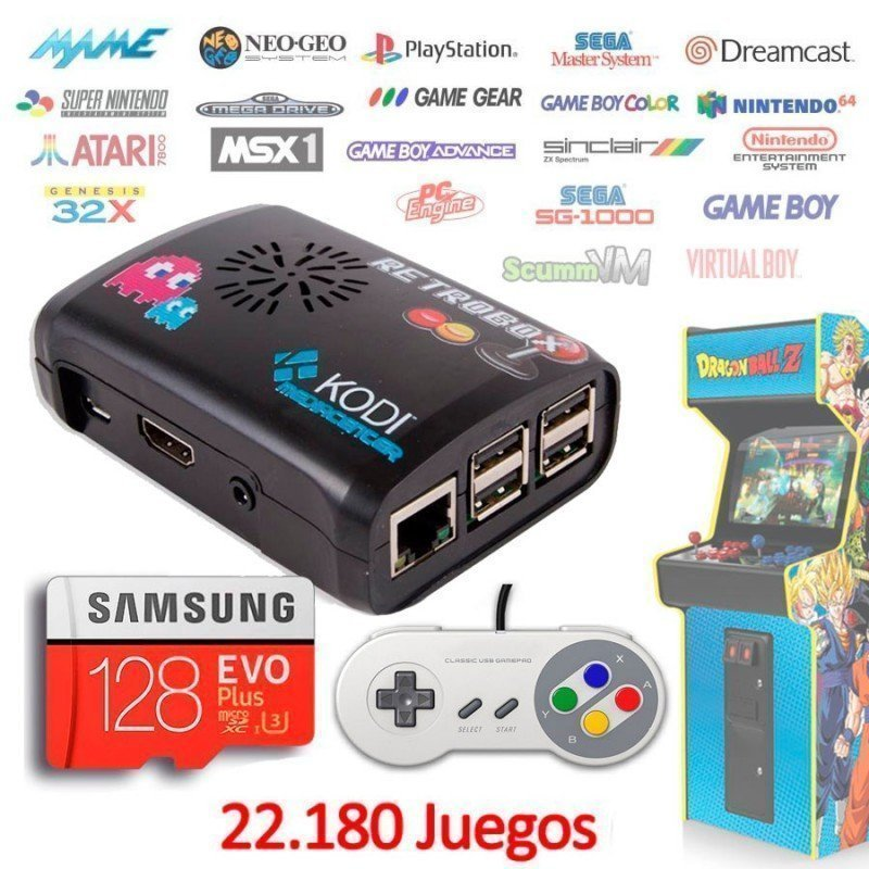Consola Retrobox SNES Super Nintendo MINI, emuladores arcade