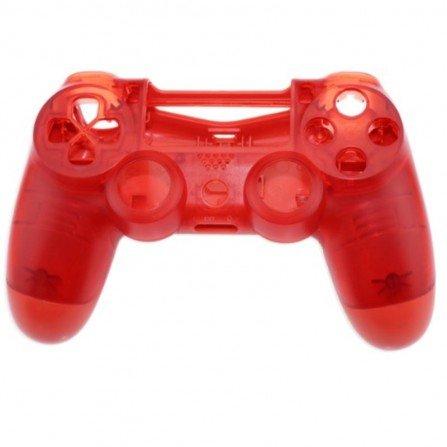 Carcasa mando DualShock 4 PS4 V2 - rojo transparente