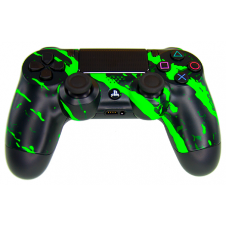 Mando DualShock 4 TOP Scratch Green MODz