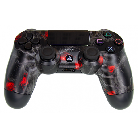 Mando DualShock 4 TOP Red Skull MODz