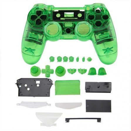 Carcasa mando DualShock 4 PS4 V1 - CRISTAL GREEN