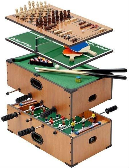 Mesa De Juegos 7 En 1 Billar Futbolin Ping Pong Ajedrez