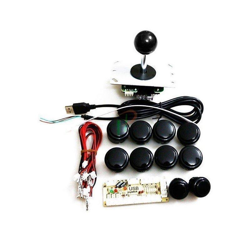 KIT botones y Joystick Arcade 1 Jugador PROFESIONAL