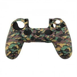 Protector funda silicona mando PS4 - CAMO BLACK