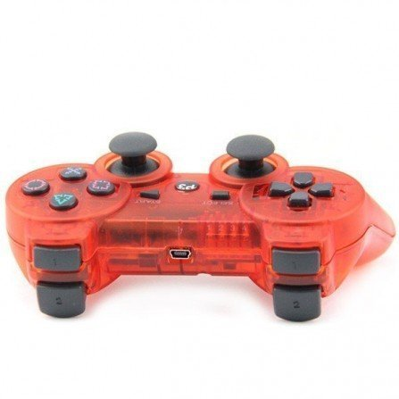 Mando inalámbrico PS3 - Cristal RED