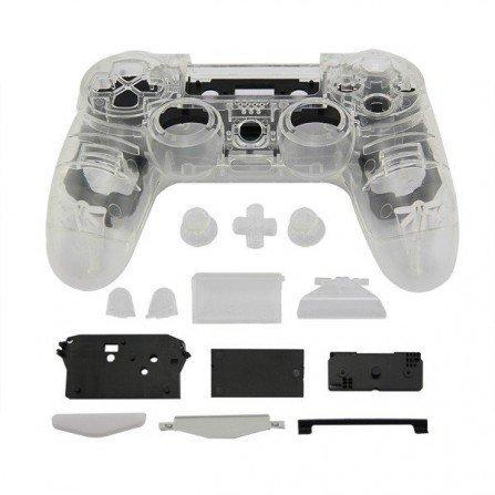 Carcasa mando DualShock 4 PS4 V1 - CRISTAL WHITE