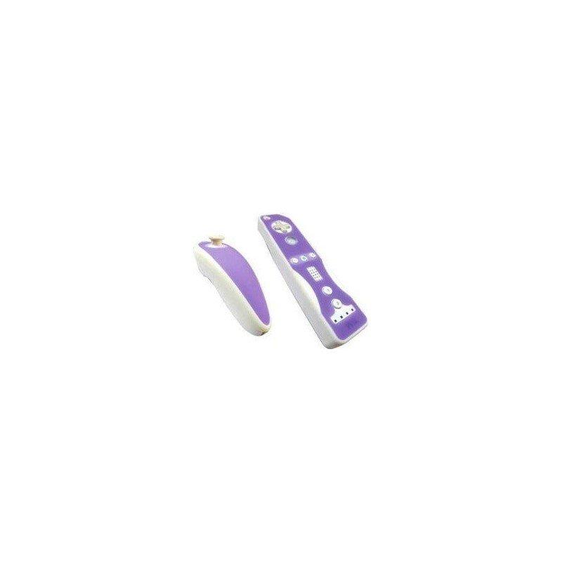 Protectores Silicona para mandos Wii *Violeta/Blanco*Protectores Silicona para mandos Wii *Violeta/B