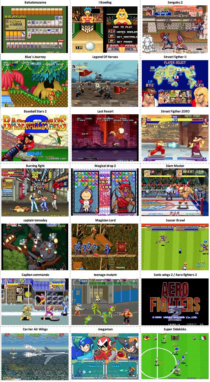listado de juegos arcade
