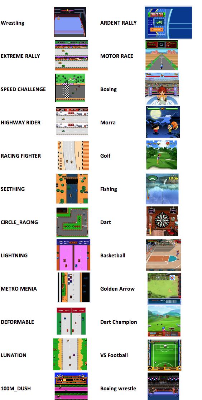 listado de juegos deportes maquina arcade