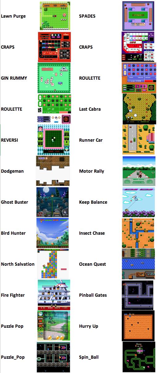 listado de juegos puzzle maquina aracade mini bartop